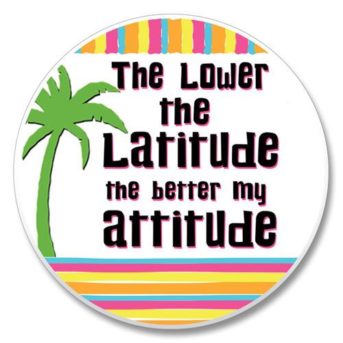 """Lower Latitude"" - Stone Car Coaster Cupholder 03-01213"