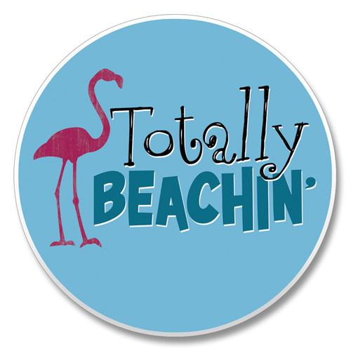 """Totally Beachin'"" - Stone Car Coaster Cupholder 03-01320"