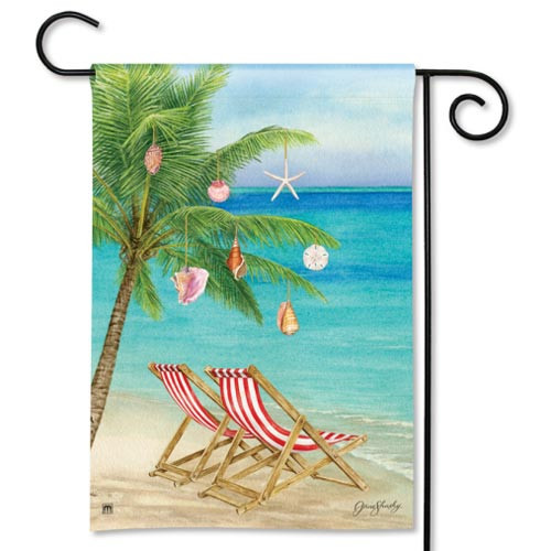 "Beach During Christmas - Garden Flag - 12"" x 18"" 31006"