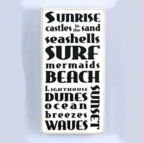 Sunrise Surf Beach Wall Plaque 13142