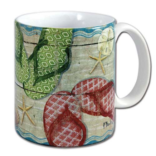 Flip Flop Fun Beach Coffee 11 oz Mug - 60046
