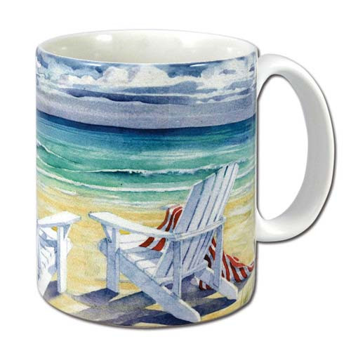 Paradise Relaxing Beach Chair Theme Coffee 11 oz Mug - 60068