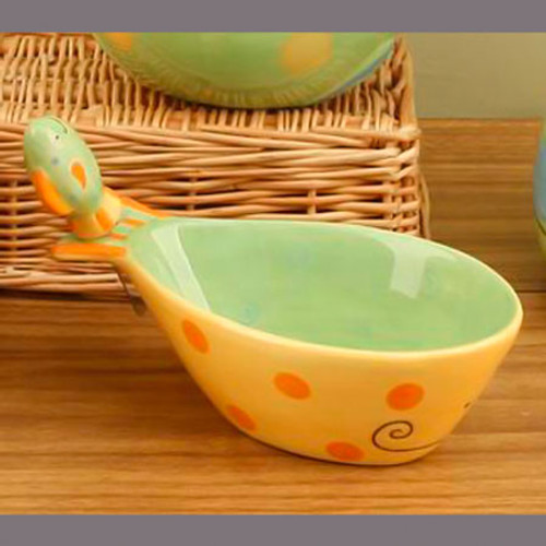 Ceramic Tropical Fish Bowl w/ Spreader 12282
