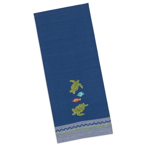 Sea Turtles Embroidered Dishtowel 26828