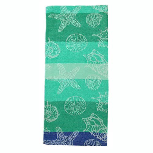 Sea Shells Jacquard Dishtowel Green 26893G