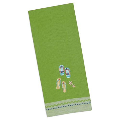 Flip Flops Embroidered Dishtowel 26827
