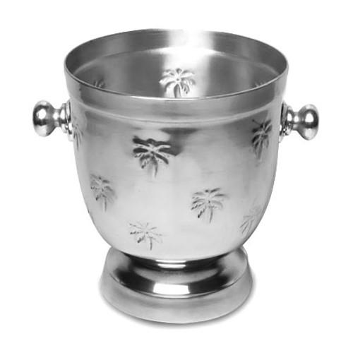 Palm Tree Metal Round Wine Cooler Bowl 13414