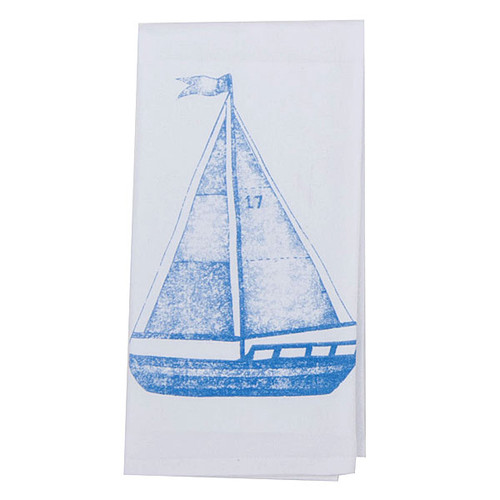 Sail Boat Krinkle Flour Sack Towel A8268