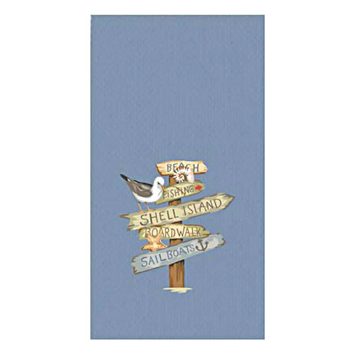 Beach Signs Embroidered Waffle Towel R2938
