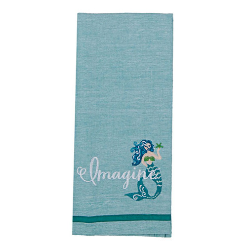 Mermaid Imagine Embroidered Tea Towel R6398