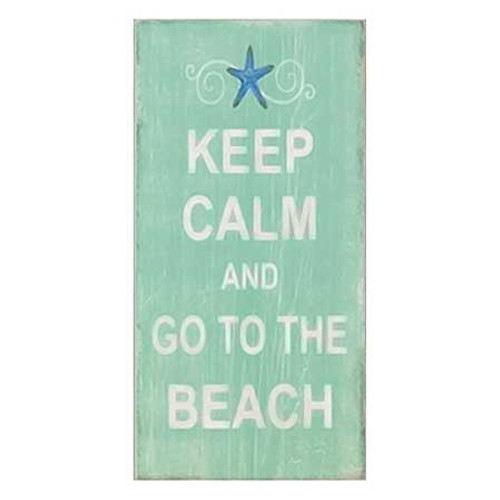 Keep Calm Beach Wall Art Wood 13834