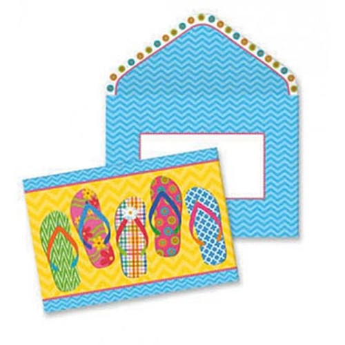 Boxed Flip Flops Note Cards 10 Pack 09-039
