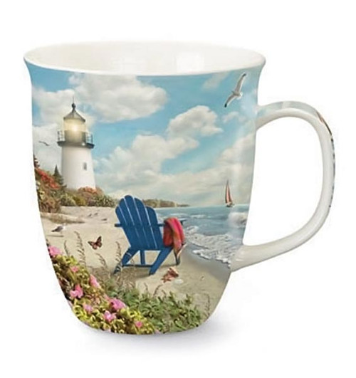 Beach Light House Harbor Scene Mug 718-26