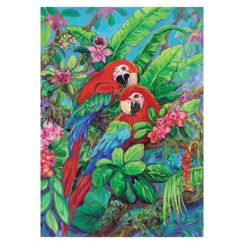 Tropical Macaw Parrots GARDEN Flag - 112574