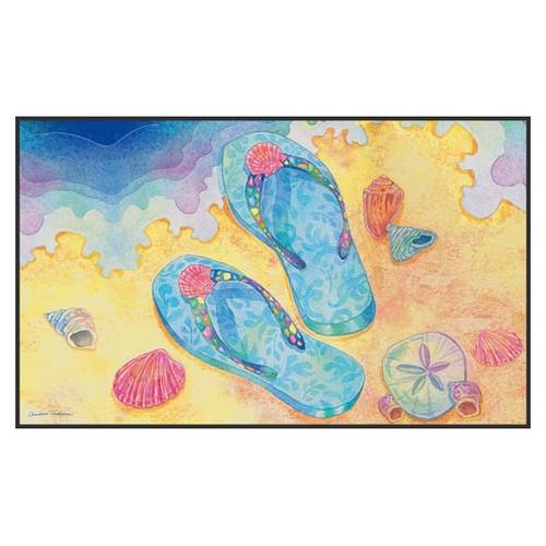 """Beach Flip Flops Floor Mat - 18"""" x 30"""" - 800001"""
