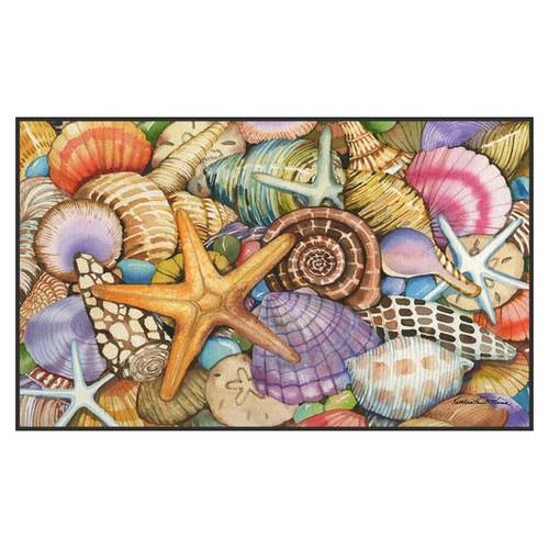 """Beach Shells Welcome Floor Mat - 18"""" x 30"""" - 800033"""