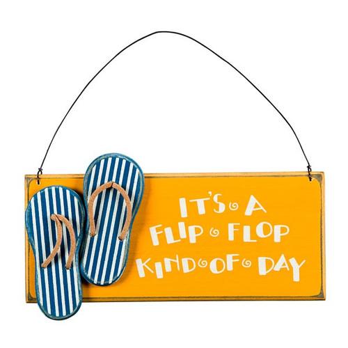 Wood Flip Flop Day Sign 23833