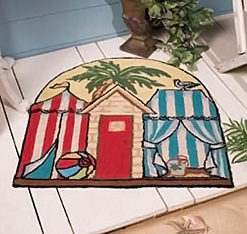 "Tropical Cabana Beach Theme Floor Mat 27x28"" Rug"
