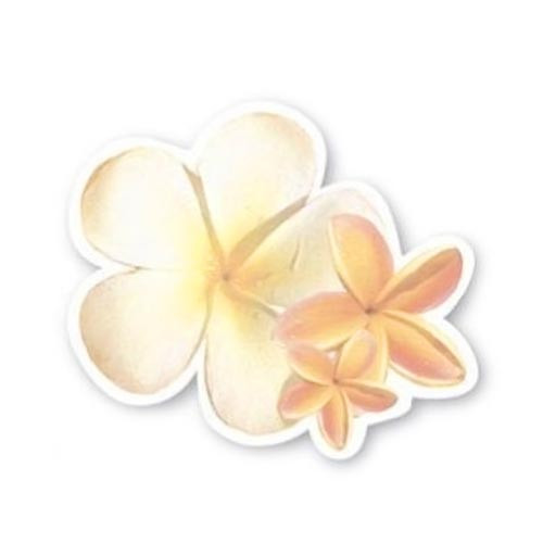 Plumeria Shaped Sticky Notes