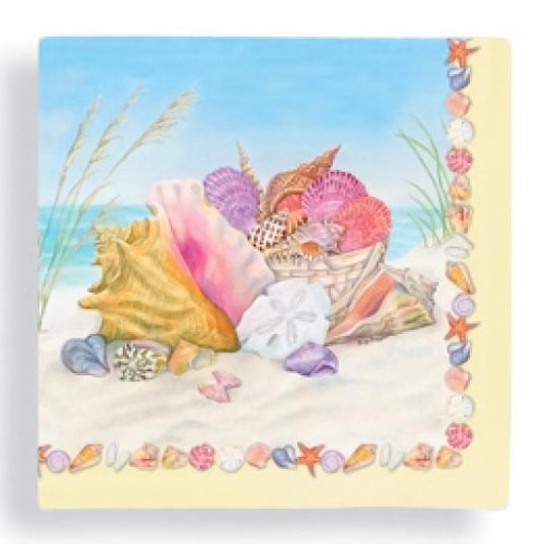 Ocean Shells Bounty Paper Beverage Napkins