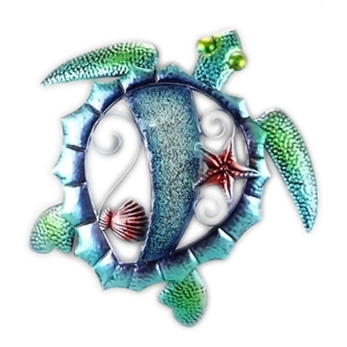 Sea Turtle Decorative Metal Wall Decor 15152