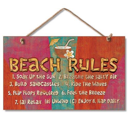 Beach House Rules Wood Sign 41-663