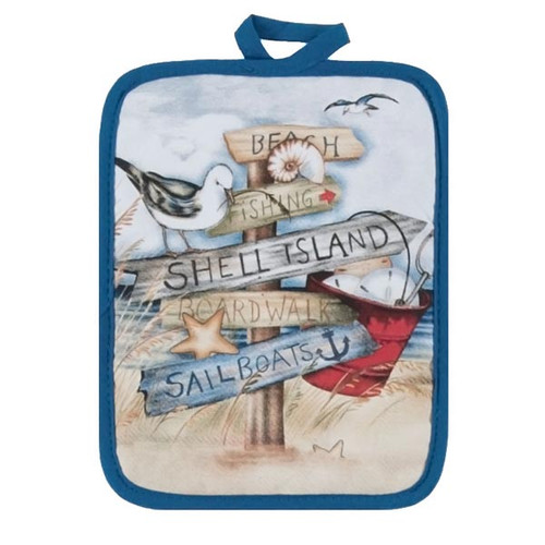 Beach Signs Potholder Hot Pad R2932