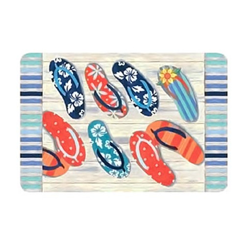 """Flip Flops Kitchen Placemat """"Beach Bummin"""" - R1469"""