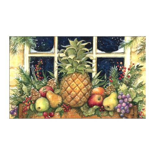"Winter Pineapple Welcome Floor Mat - 18"" x 30"" - MatMates - 15000"
