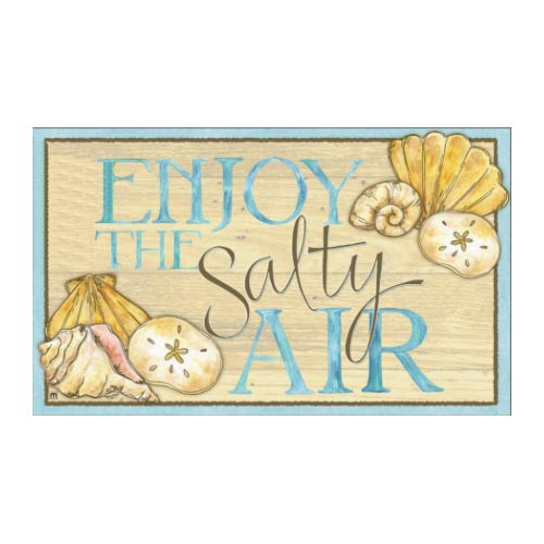 """Enjoy Salty Air Shell Floor Mat - 18"""" x 30"""" - MatMates - 18807D"""