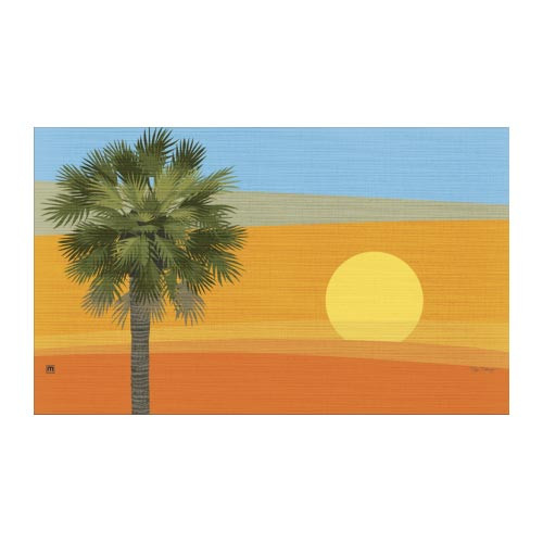 "Sunset Palm Trees Floor Mat - 18"" x 30"" - MatMates - 16844"