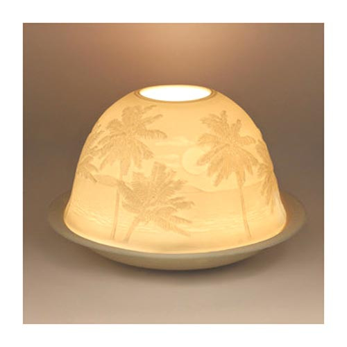 Tropical Palms Porcelain Tealight Holder 93402000