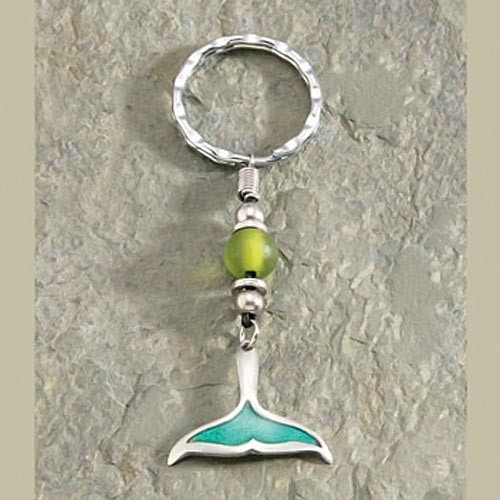 Whale Tail Pewter Keychain - 9874615000