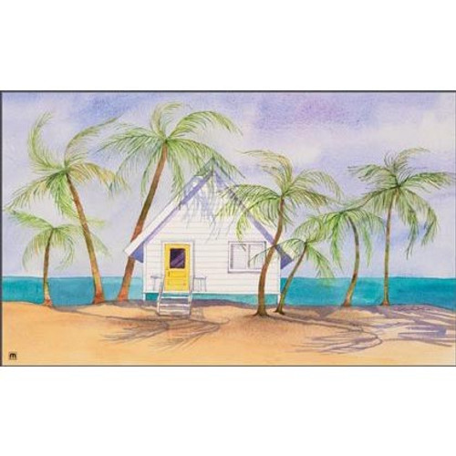 "Beach Theme Floor Mat ""Beach House"" MatMates 16518"