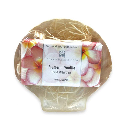 Sea Shell Plumeria Vanilla Soap Gift Set - 49767