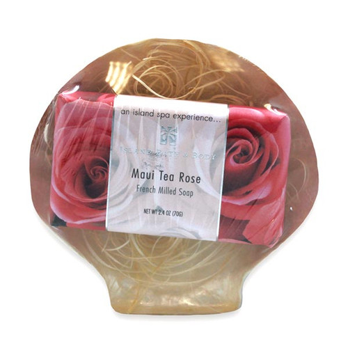 Sea Shell Maui Tea Rose Soap Gift Set - 49769