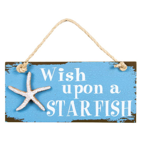 Wish on a Starfish Beach Sign 39635