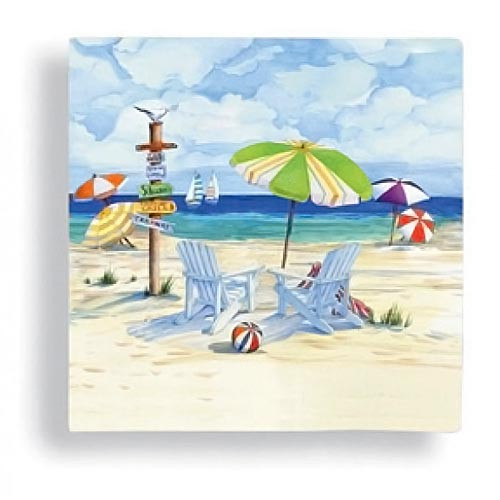 Seaside Beach Chair Relaxing Paper Cocktail Napkins 15-058