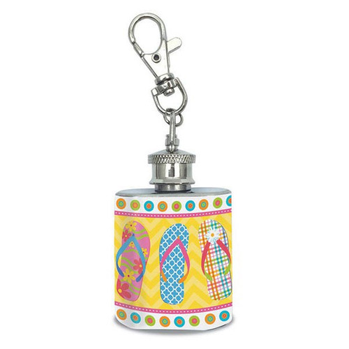 Flip Flops Beach Fun 1oz Flask Keychain - 34-101