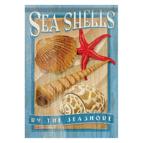 Sea Shells Seashore Starfish GARDEN Flag - 45888