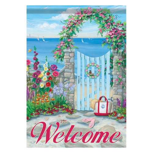 Ocean Sea Cottage Seashore GARDEN Flag - 45869