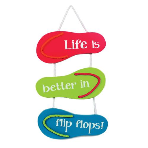 Life in Flip Flops Wooden Sign - 60339-G