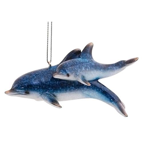 Dolphin Pair Christmas Ornament - 880-01