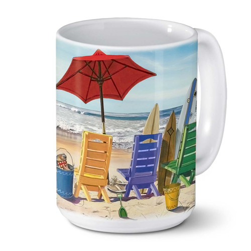 Relax Beach Chair Ceramic Coffee Mug 24-00060