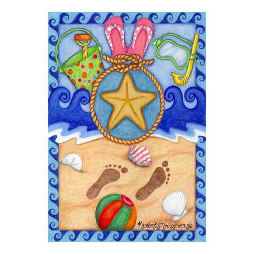 Sandy Beach Fun GARDEN Flag - 112073