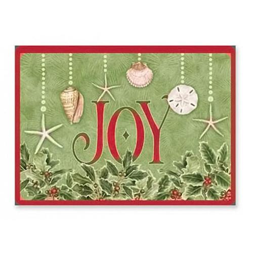 Joy Shell Beach Christmas Cards 16 per Box 27-080