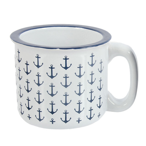 Mug - Ceramic White Anchor 16oz - 20386W
