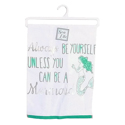 Always Be a Mermaid Print Dish Towel - 25092A