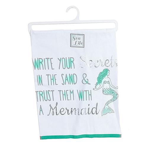 Mermaid Write Print Dish Towel - 25092W