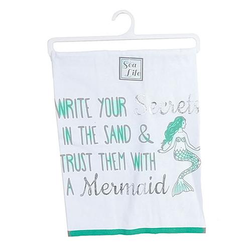 Mermaid Write Print Dish Towel - 25092W